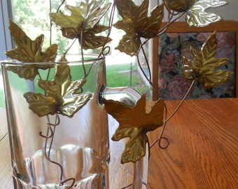 BRASS LEAVES with COPPER Stems