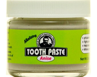 Uncle Harry's Natural Anise Toothpaste, 3 Oz Glass Jar