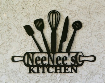 Delightful Kitchen Metal Sign   Kitchen Sign   Personalized Kitchen Sign