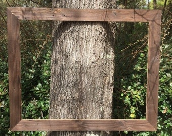 LARGE wood frame~ rustic wood frame~cottage~rustic chic~country~wood grain