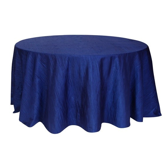 120 inch navy blue crinkle taffeta round tablecloth wedding for 120 inch table linens