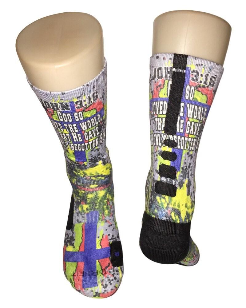 Custom john 316 nike elite socks for Custom elite com
