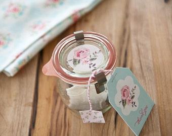 Vintage Rose Tea Bag Gift Tags