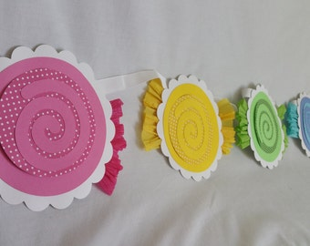 Candy Garland for any candyland theme birthday party or candy banner