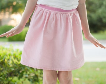 Girl Skirt, pink summer skirt, toddler cotton skirt, boutique clothing, children's clothing, 4T pink skirt, size 2T, 3T, 4T, 5, 6, 7, 8, 10