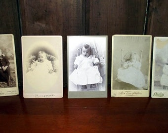 Antique Cabinet Card Photos of Babies