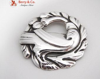 Dove And Wreath Brooch Sterling Silver Coro