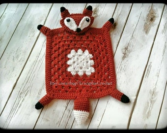 Fox security blanket. Fox blanket. Fox baby security blanket. Crochet Fox blanket. Crochet Fox lovey. Fox lovey. Handmade fox blanket.