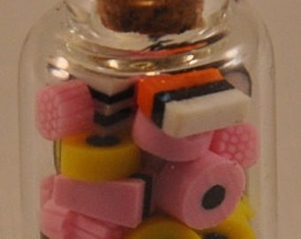 Beautiful Fimo sweetie jars in 1:12 size for dolls house, sweet shops dioramas or mini projects