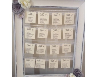 Vintage Chic Style Wedding Table Chart ~Custom Made~