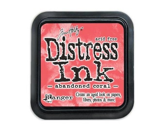 CLEARANCE! Tim Holtz Abandoned Coral Distress Ink Pad