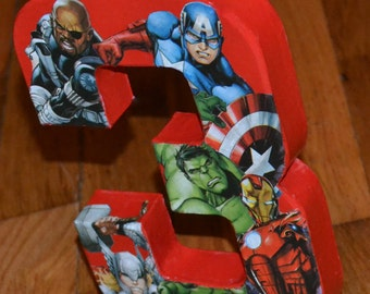8 inch Avengers Birthday Photo Prop