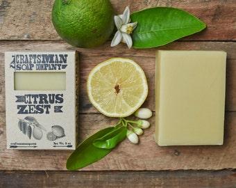 Citrus Zest. Lemon, Grapefruit, Lemongrass & May Chang Bar Soap. 100% All-Natural Handmade.