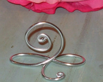 5 silver infinity bow wire name place cards or small table number holders silver