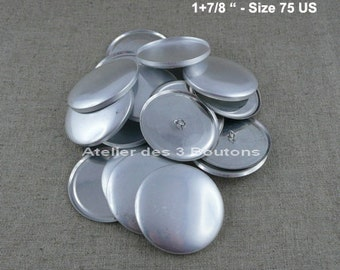 """10 Cover Buttons 1.7/8"""" (Size 75)"""