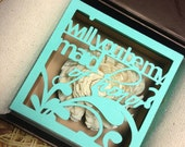 Will you be my bridesmaid / maid of honor personalized cut-out box (shipped individually)