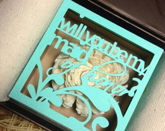 Will you be my bridesmaid -  unique personalized proposal gift box