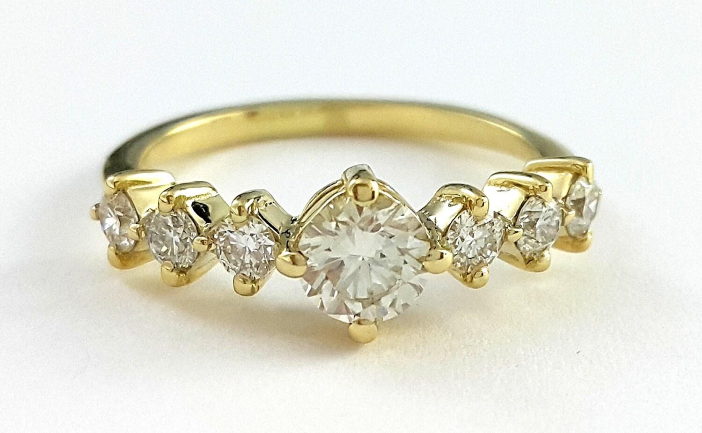 deco engagement ring unique engagement ring