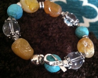Beautifully and made with love stretch bracelet to represent a cause close to your heart