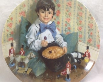 Little Jack Horner Collector Plate by Reco Bradford 1982 8 1/2