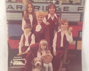 Partridge Family Sheet Music - I Think I Love You, 1970