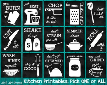Kitchen Decor Kitchen Utensil Art Kitchen Wall Art Funny Kitchen