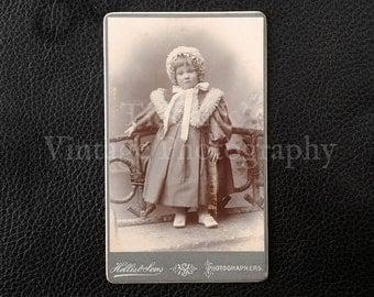 Carte de Visite CDV Photograph of a Standing Young Girl - Hellis & Sons London