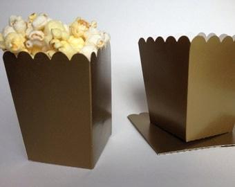 24 ct Mini Gold  popcorn boxes /gold  treat boxes/ gold silver party favor boxes/  treat favor boxes