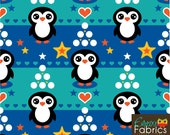 Emrose Fabrics Penguin Winter Organic Cotton Knit