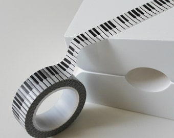 Black and White Piano Keys Japanese Washi Tape - 15mm x 10m roll