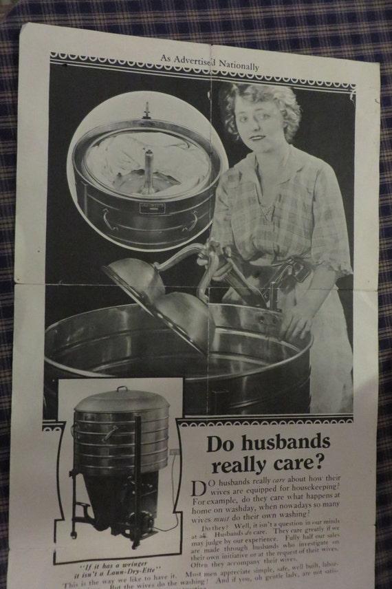 1920 Washing Machine ~ Original antique ad for s washing machine