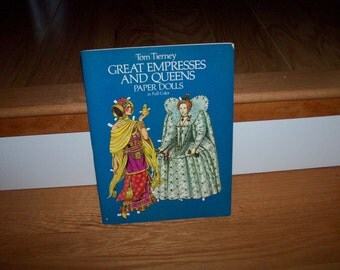Paper Dolls Great Empresses and Queens Vintage Uncut Paper Doll Historic History Play Arts Crafts Toy