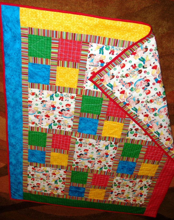 Retro fabric children in candy land accented with for Retro kids fabric