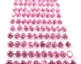 Pink Cubic Zircona 3mm Round Sale by Best in Gems  (2700)