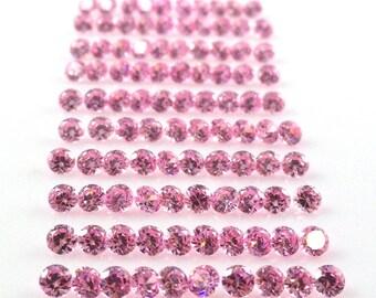 Pink Cubic Zircona Round 2.5mm Sale by Best in Gems  (2701)