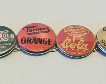 Unique Aged Vintage Style Old Soda Pop Bottlecap Designs Fashion Button Bracelet
