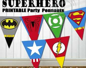 PRINTABLE Superhero Party Banner Super hero Party Banner Super hero Birthday Banner Superhero Birthday Banner Superhero Banner for Birthday