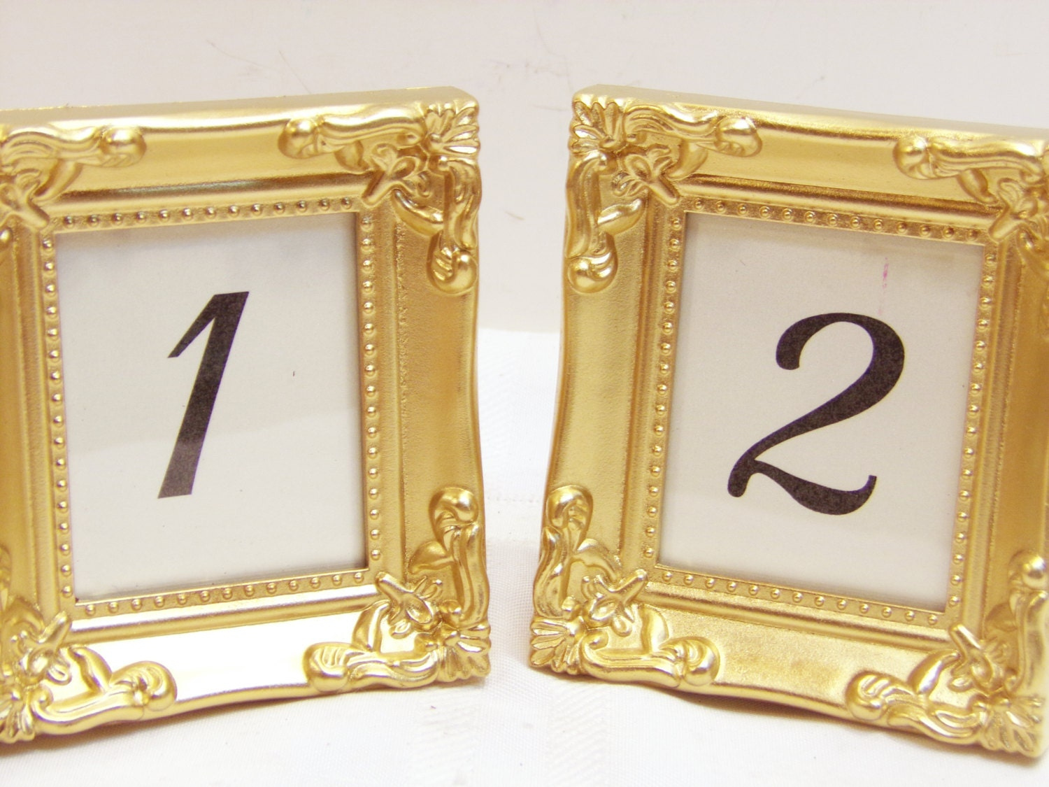 2 ornate wedding frames table numbers victorian shabby vintage for Table numbers