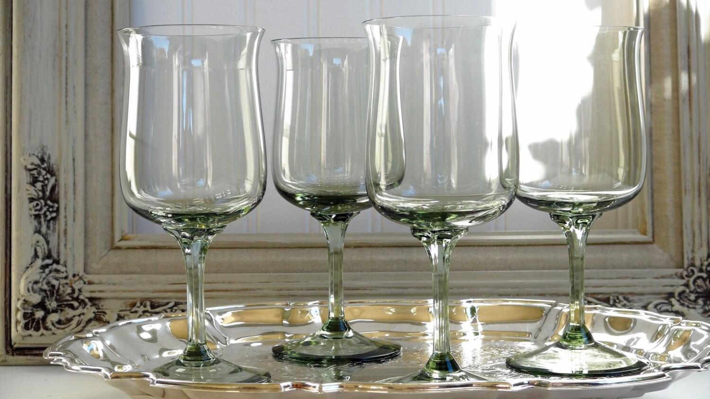 Set of 4 lenox expression line crystal water wine goblet - Lenox colored wine glasses ...
