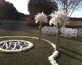 Petal Monogram Aisle Runner for Wedding