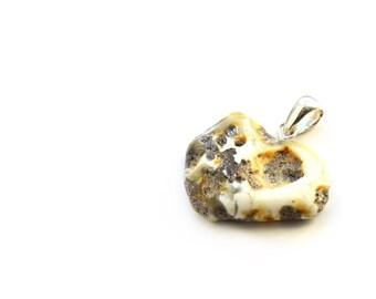 Raw amber pendant Healing unpolished genuine small pendant 2,6 grams (0,08 oz) Raw Baltic amber nugget pendant 0508