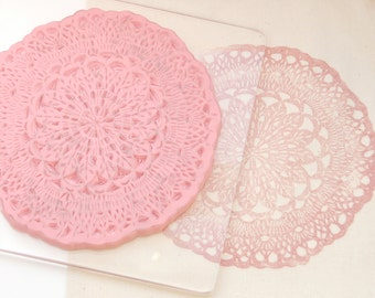 Doily Stamp - Granny Doily Stamp - Pretty Doily Stamp - Pretty Gift Wrap Stamp - Lace Stamp - Hand Carved Rubber Stamp - Little Stamp Store