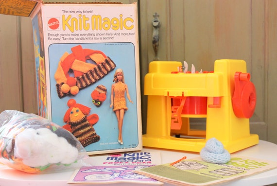 Knitting Machine Questions : Knit magic vintage mattel knitting machine toy to