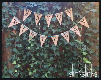 Wooden 'Happy Birthday' Banner