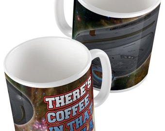 Star Trek: Voyager - There's Coffee in that Nebula Janeway Quote Mug