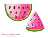 Preppy Watermelon clip art - Original Art download, whimsical watermelon clip art, preppy clip art, The Island Collection