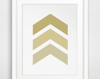 Gold Wall Art, Printable Art, Wall Prints, Chevron Art, Gold Wall Prints, Home Decor, Gold Art, Chevron Wall Prints, Printable Decor