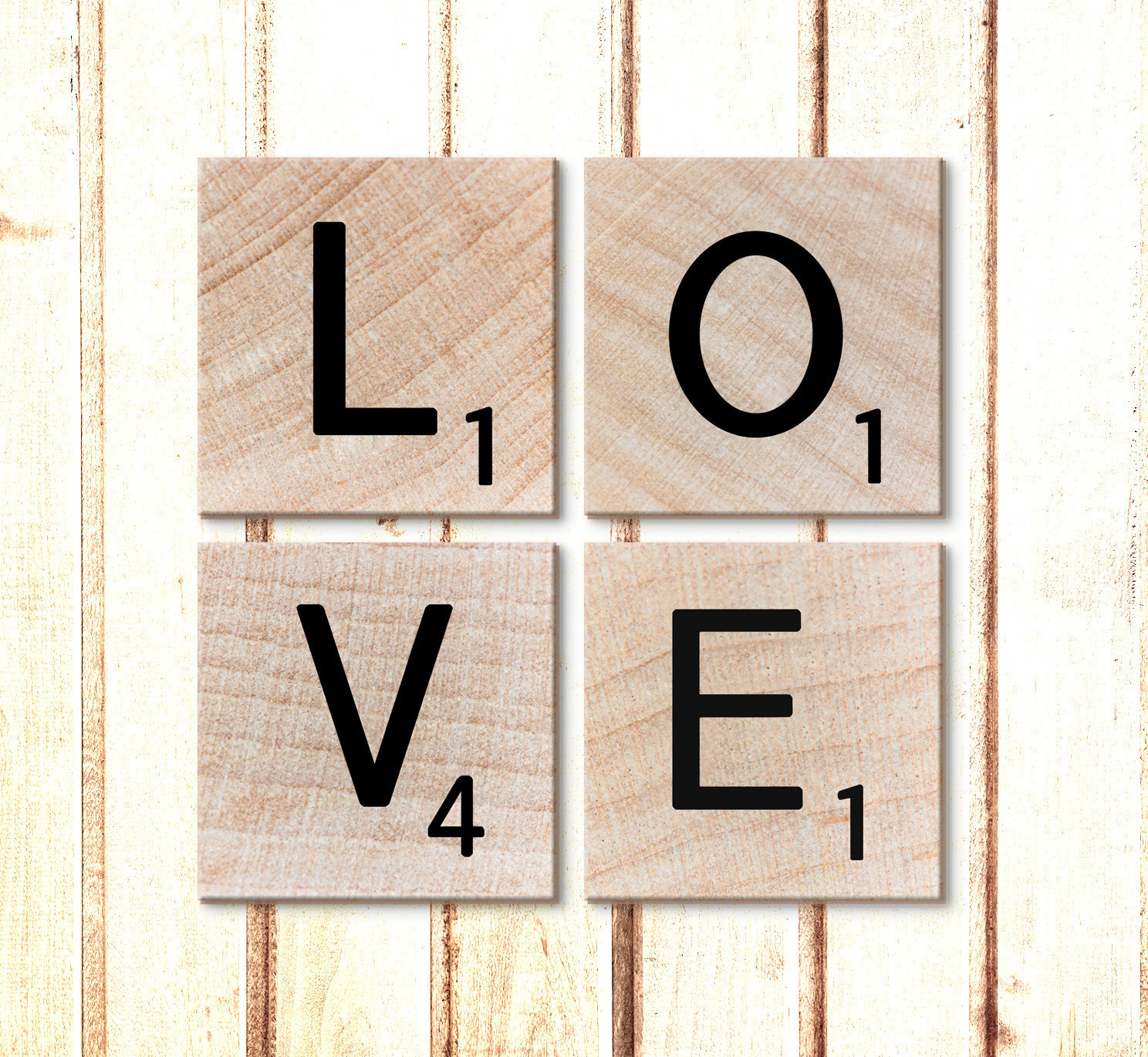 Scrabble Letters Wall Decoration : Canvas art wall letters scrabble prints by ekphotoart