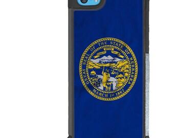iPhone 5 5s 6 6s 6+ 6s+ SE 7 7+ iPod 5 6 Phone Case, Nebraska Flag Design, NE State Flag, USA, United States, Plus