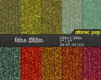 SALE Metallic Vintage Ribbed Glitter Digital Paper Pack// Instant Download for Decoupage, Scrapbooking, and Crafts // Copper, Gold, Pewter